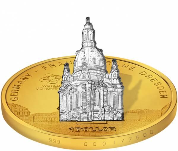 1 Dollar Cook-Inseln Deutschland Frauenkirche 2009