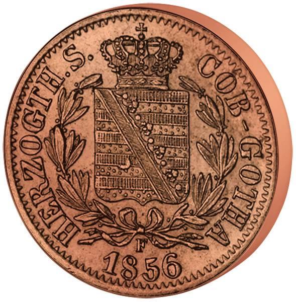 3 x 2 Pfennige von Sachsen 1847-1856 Sehr schön