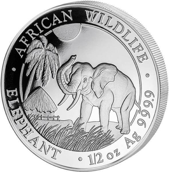 1/2 Unze Somalia Elefant 2017