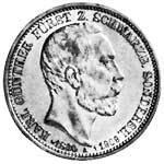 3 Mark Schwarzburg-Sondershausen Karl Günther - Auf seinen Tod 1909 ss-vz