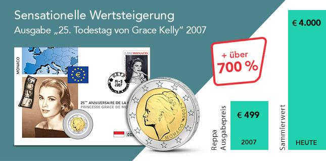 Sensationelle Wertsteigerung - 25. Todestag von Grace Kelly 2007