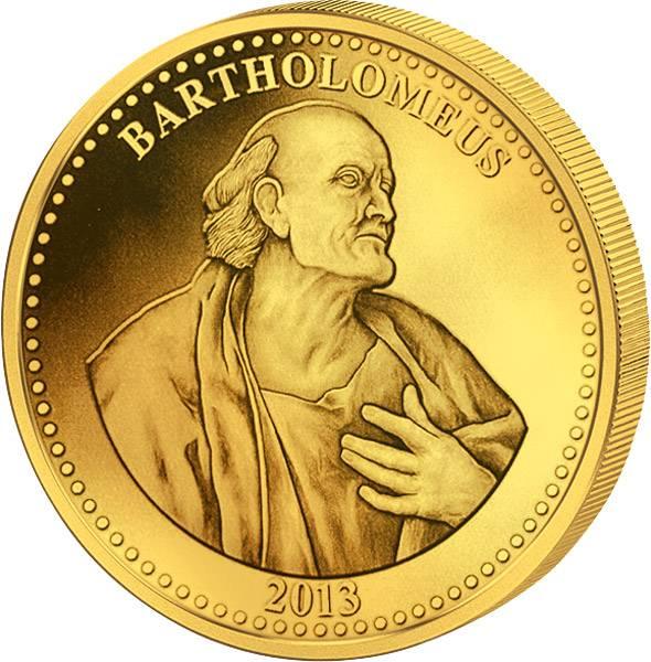 1.500 Francs Kamerun Apostel Bartholomäus 2013 Polierte Platte
