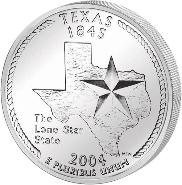 Quarter Dollar USA Texas 2004