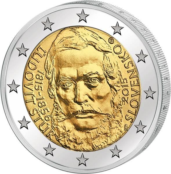 2 Euro Slowakei 200. Geburtstag von Ludovit Stúr 2015   prägefrisch