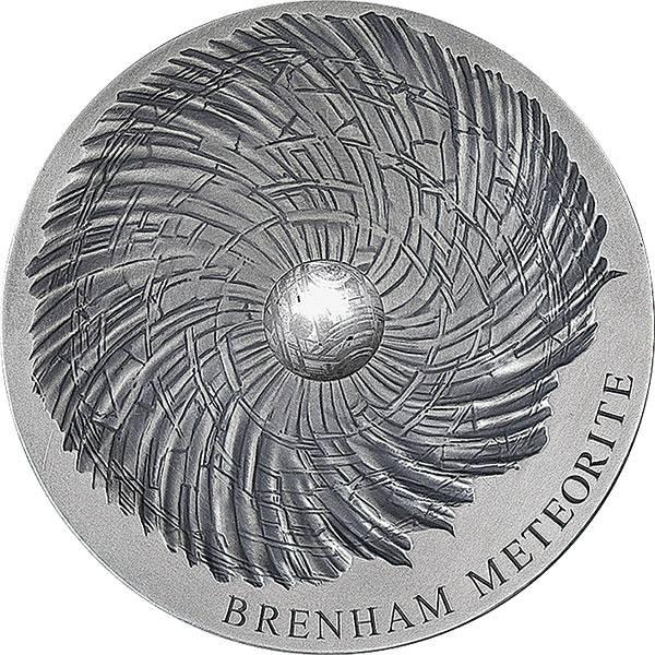 5.000 Francs CFA Tschad Meteoritenmünze Brenham-Meteorit 2016