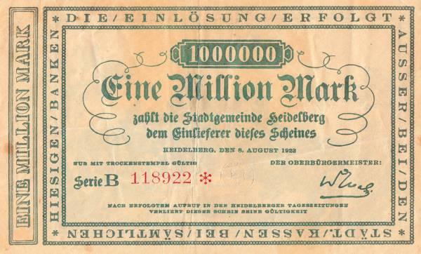 1.000.000 Mark Heidelberg Michaeliskirche Heiligenberg