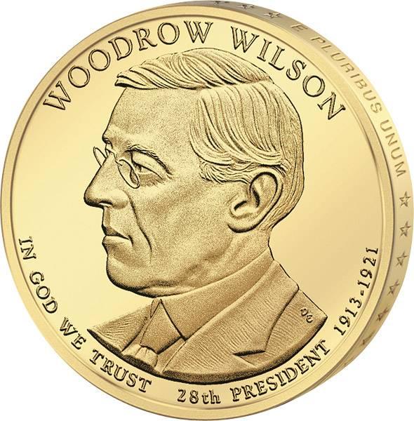 1 Dollar USA Woodrow Wilson 2013 Stempelglanz