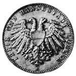 2 Mark Lübeck Wappen schmaler Adler 1901 Vorzüglich