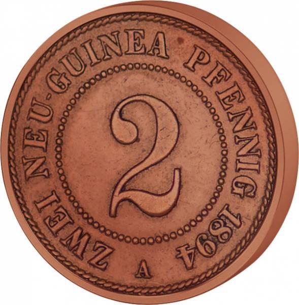 2 Pfennig Deutsch Neuguinea Palmzweige 1894 A Sehr schön