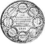 Taler Geschichtsdoppeltaler Ludwig I 1838  Vorzüglich