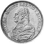Taler Ausbeutekonventionstaler Friedrich August 1824 ss-vz