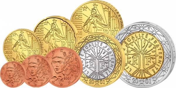 Euro-Kursmünzensatz Frankreich