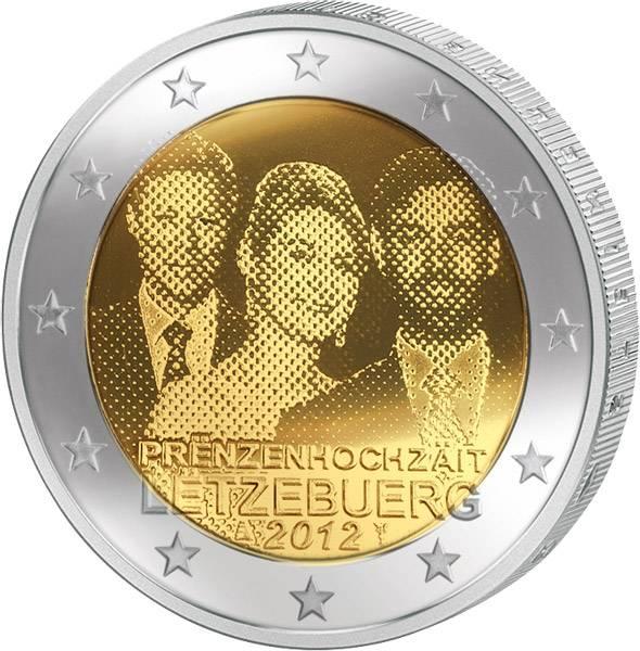 2 Euro Luxemburg Prinzenhochzeit 2012 prägefrisch