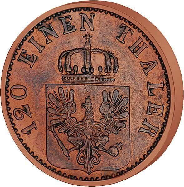 3 Pfennig Preußen König Wilhelm I.