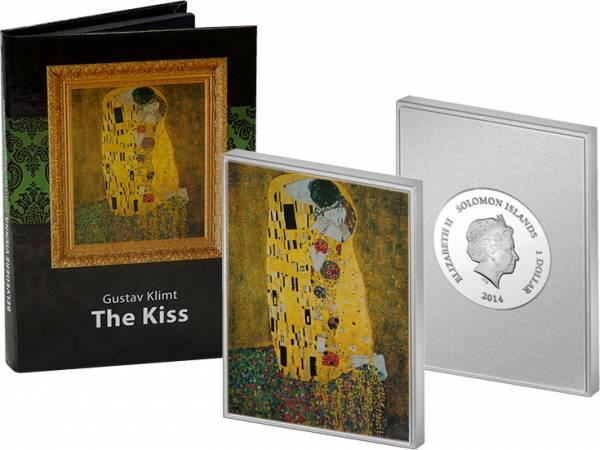 1 Dollar Salomonen Klimt Der Kuss 2014 Polierte Platte