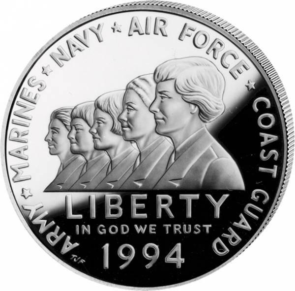 1 Dollar USA Frauen im Militär 1994 Polierte Platte (PP)