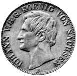 Taler Vereinstaler Johann 1861 ss-vz