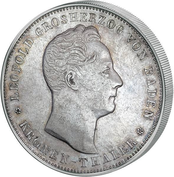 Krontaler Baden Großherzog Leopold 1836 ss-vz