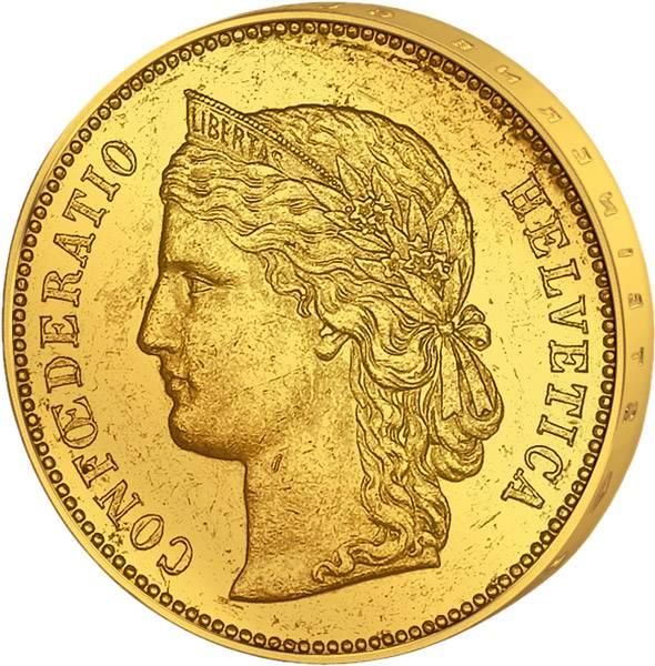 20 Franken  Schweiz Helvetia 1883-1896   vz-st