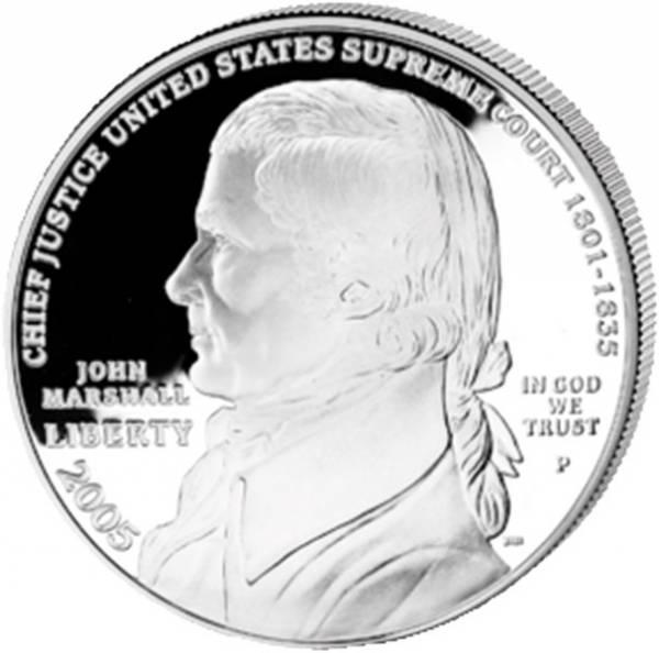 1 Dollar USA Chief Justice John Marshall 2005 Polierte Platte (PP)