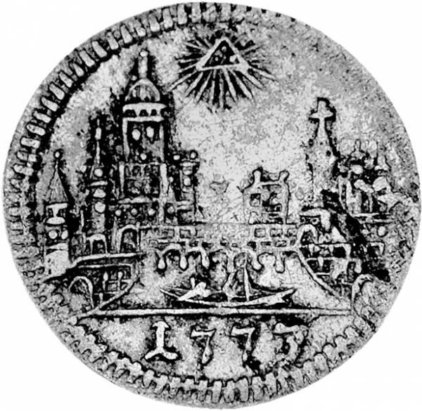 1 Kreuzer Freie Reichsstadt Frankfurt 1773 sehr schön