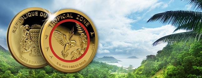 3.000 Francs Tschad Kolibri Tropische Zone