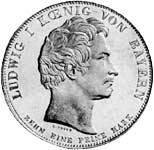 Taler Geschichtstaler Ludwig I. 1835 Vorzüglich