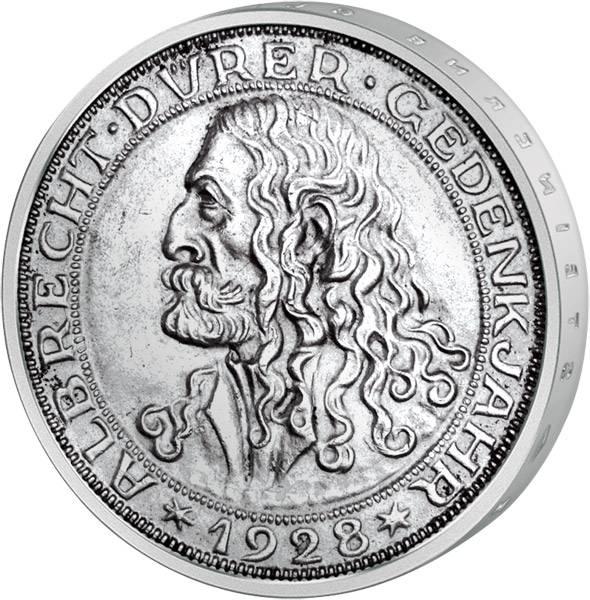 3 Reichsmark 400. Todestag Albrecht Dürer 1928 Vorzüglich
