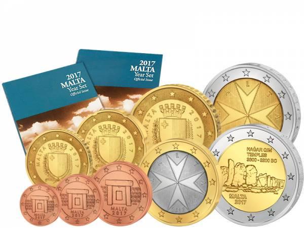 Euro-Kursmünzensatz Malta 2017 inklusive 2-Euro-Gedenkmünze