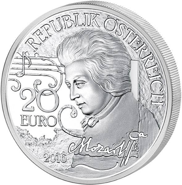 20 Euro Österreich Mozart Mythos