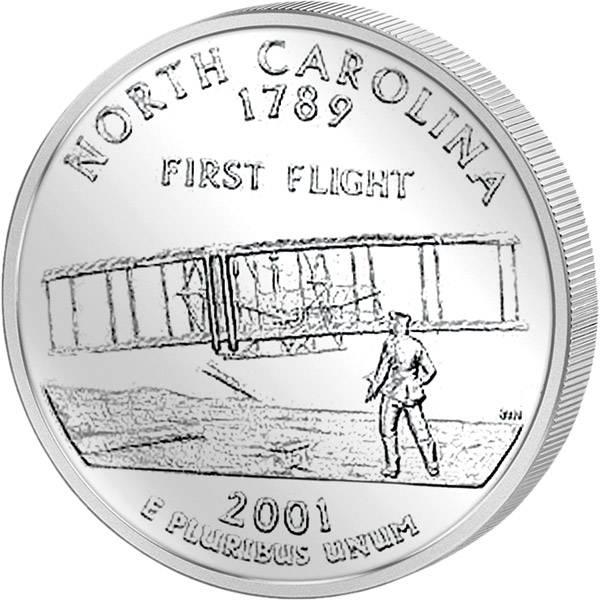 Quarter Dollar USA North Carolina 2001