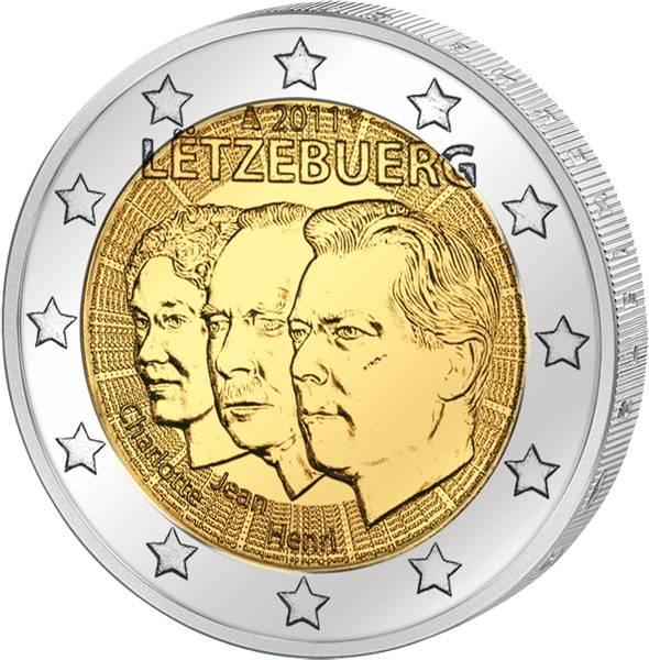 2 Euro Luxemburg Jean de Luxemburg 2011 prägefrisch