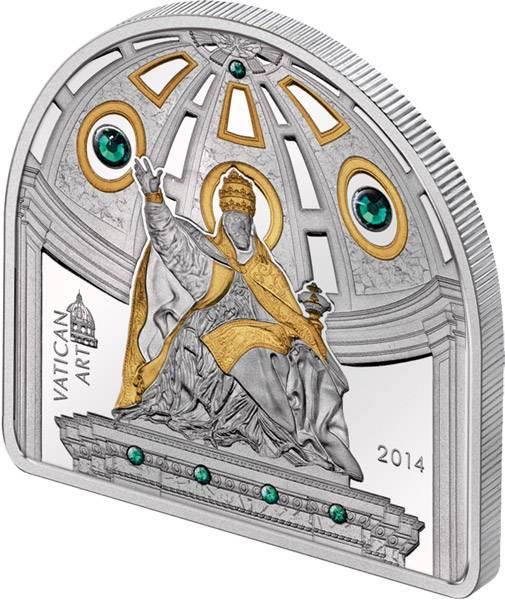 5 Dollars Cook-Inseln Papst Urban VIII. 2014 Polierte Platte