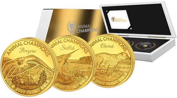3 x 10 Dollars Salomonen Animal Champions