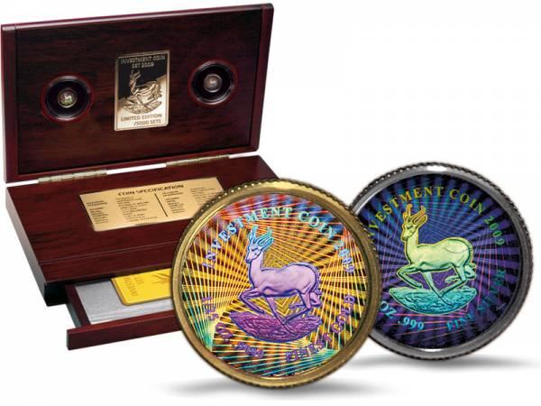 50 u. 250 Kwacha Malawi Investment Coin Set mit Hologramm 2009 Polierte Platte