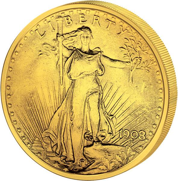 20 Dollars USA St. Gaudens 1907-1932 J.u.W. Vorzüglich