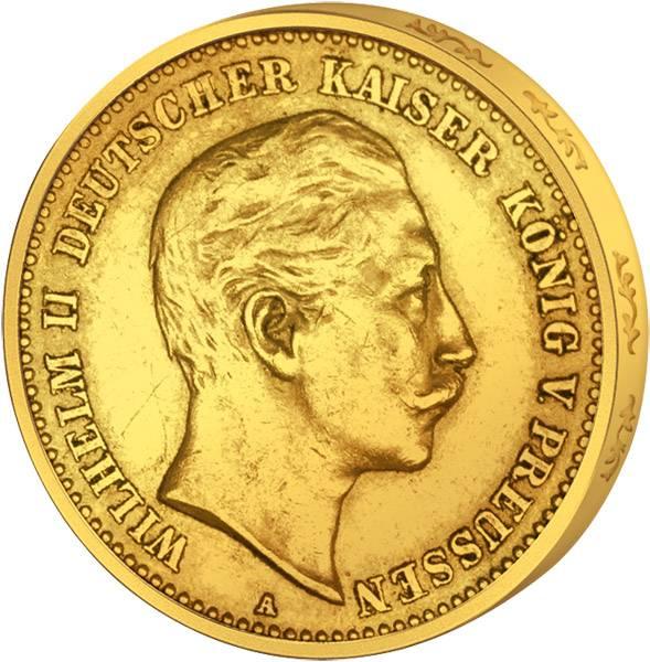 10 Mark Preußen Wilhelm II. 1890-1912 Sehr schön
