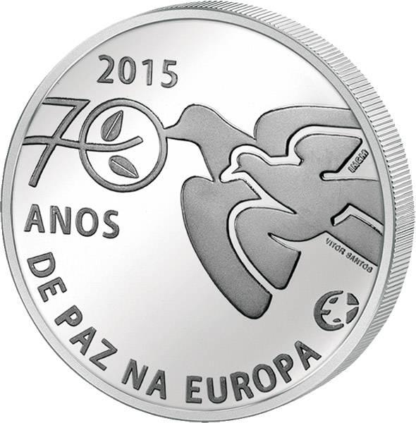 2,5 Euro Portugal 70 Jahre Frieden in Europa 2015 Stempelglanz