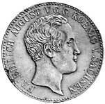 Konventionstaler Silber Friedrich August II. 1837-38 Sehr schön