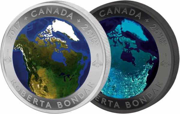 25 Dollars Kanada Kanada aus dem Weltall 2017