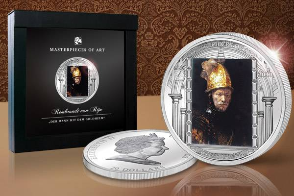 20 Dollars Cook Inseln Rembrandt van Rijn Der Mann mit dem Goldhelm 2010 Polierte Platte