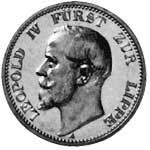 3 Mark Lippe Detmold Leopold IV. 1913 Vorzüglich