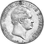 Doppeltaler Silber Friedrich Wilhelm 1841-42 Sehr schön