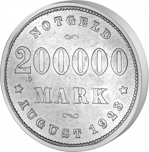 200.000 Mark Notgeld Freie und Hansestadt Hamburg August 1923 Vorzüglich