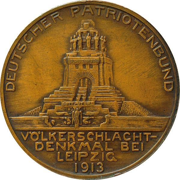 Bronzemedaille Auf die Eröffnung des Völkerschlachtdenkmals bei Leipzig  vorzüglich