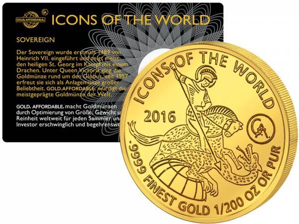 1/200 Unze Ruanda Sovereign 2016