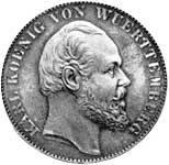 Taler Vereinstaler Karl 1865 Sehr schön