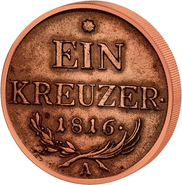 1 Kreuzer Österreich Kaiser Franz I.