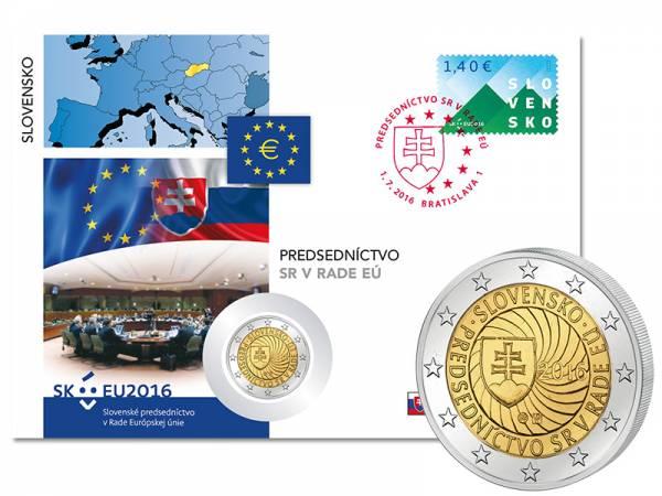 2 Euro Numisbrief Slowakei EU-Ratspräsidentschaft 2016