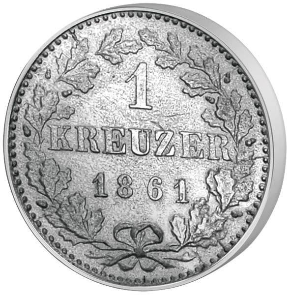1 Kreuzer Frankfurt Adler 1838-1866 ss-vz
